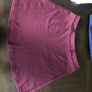maroon american apparel skirt
